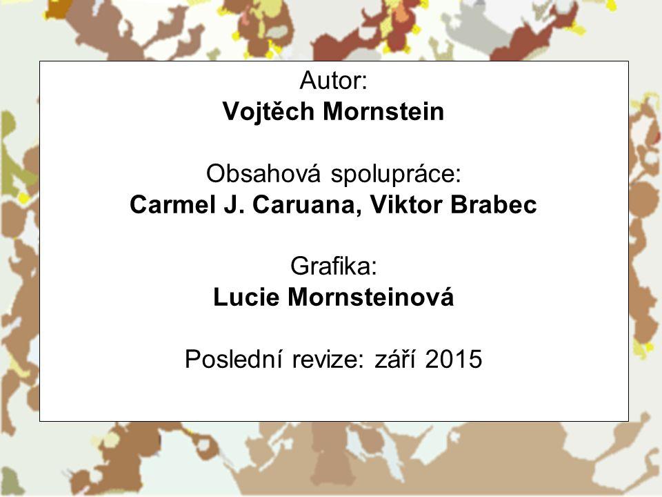 Autor: Vojtěch Mornstein Obsahová spolupráce: Carmel J. Caruana, Viktor Brabec Grafika: Lucie Mornsteinová Poslední revize: září 2015