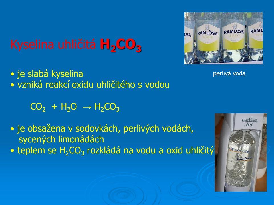 HClO Kyselina chlorná HClO vzniká zaváděním chloru do vody slabá kyselina, ničí bakterie je součástí dezinfekčních, čistících a bělících prostředků časem se rozkládá a ztrácí své účinky o úprava vody v bazénech