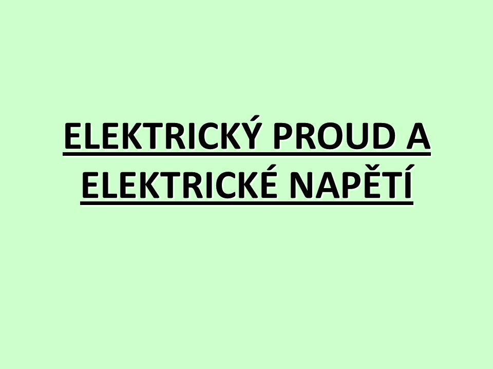 Elektrický proud elektrický proud poznáme podle jeho účinků (zvonek zvoní, žárovka svítí, …) větší el.