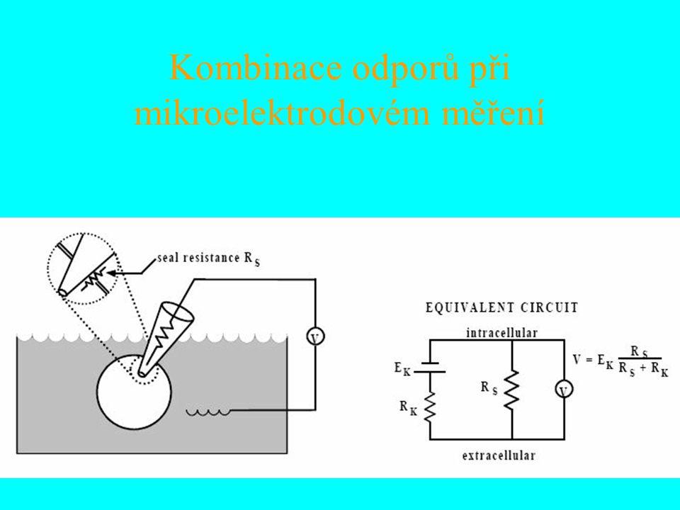 Kombinace odporů při mikroelektrodovém měření