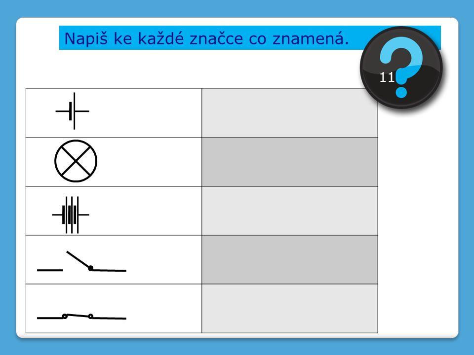 Napiš ke každé značce co znamená. 11