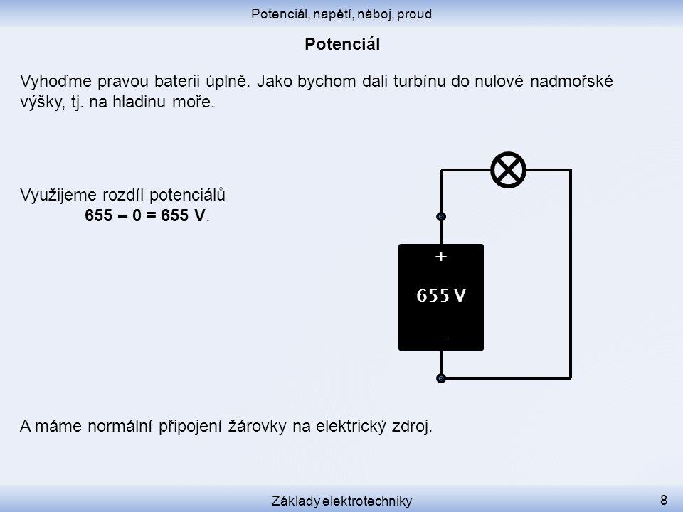 """Elektrický potenciál obvykle určujeme vůči nějakému """"pevnému bodu ."""