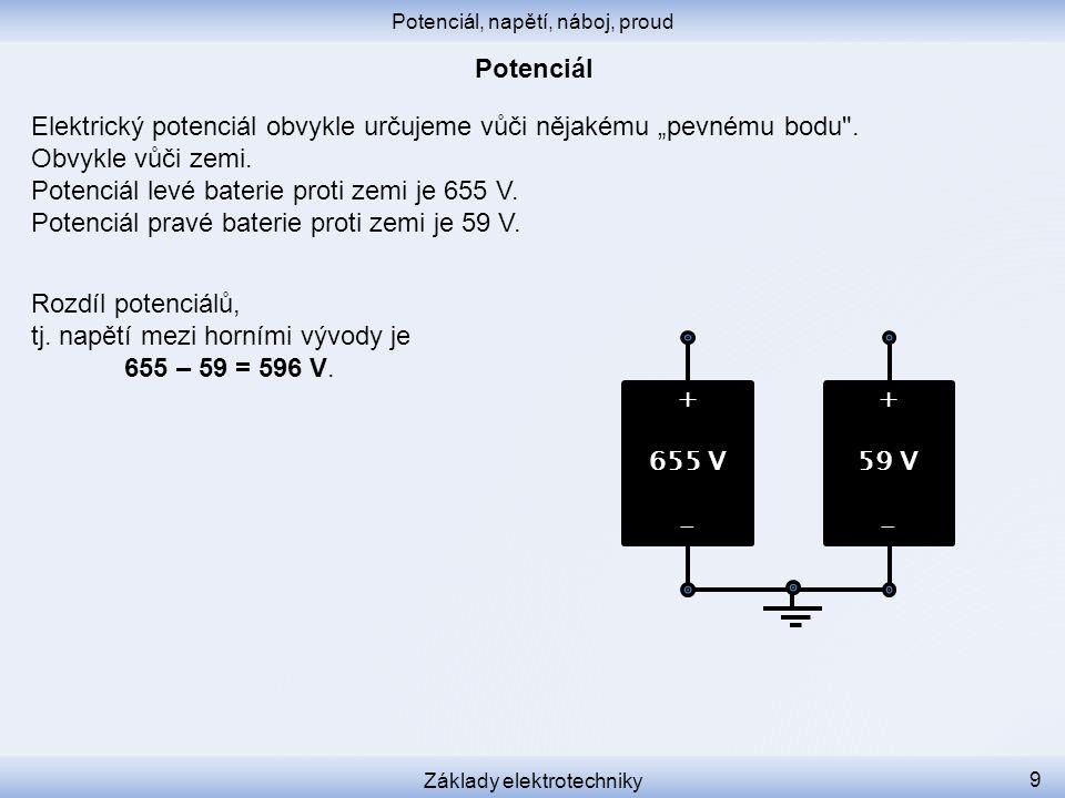 Ochranný kolík elektrické zásuvky je uzemněný.Má proti zemi potenciál 0,0 V.