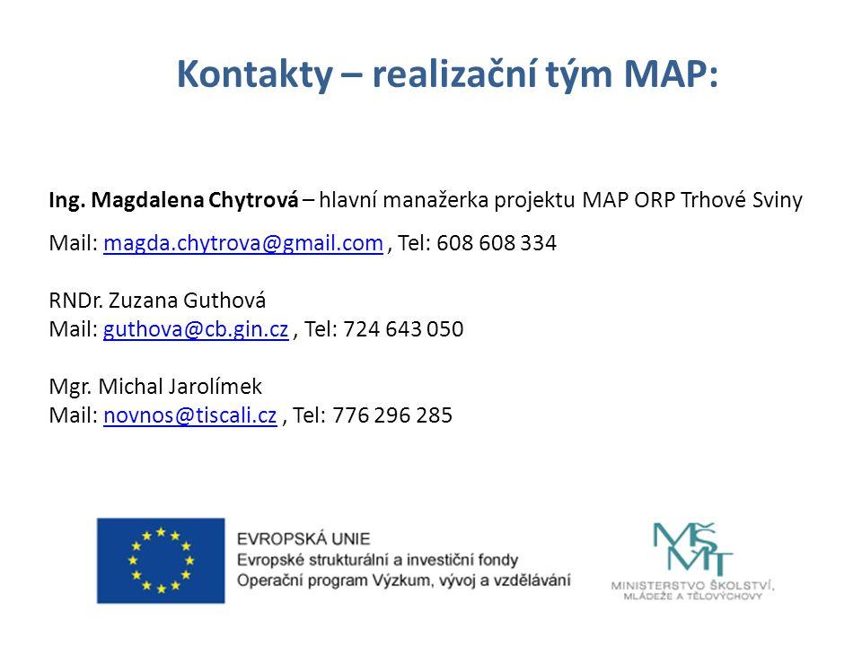 Kontakty – realizační tým MAP: Ing.