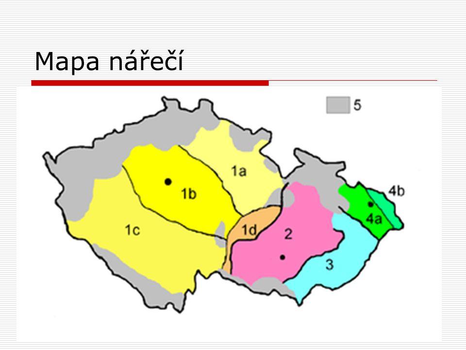 Mapa nářečí