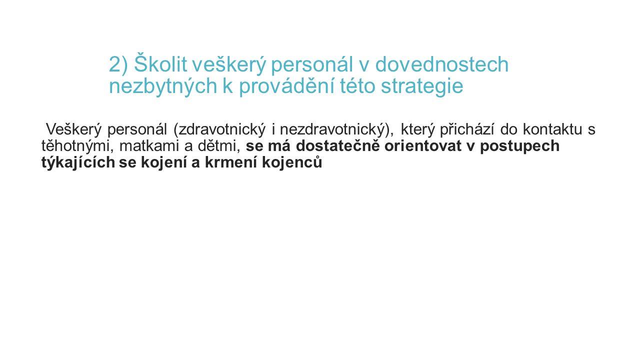 2) Školit veškerý personál v dovednostech nezbytných k provádění této strategie Veškerý personál (zdravotnický i nezdravotnický), který přichází do ko