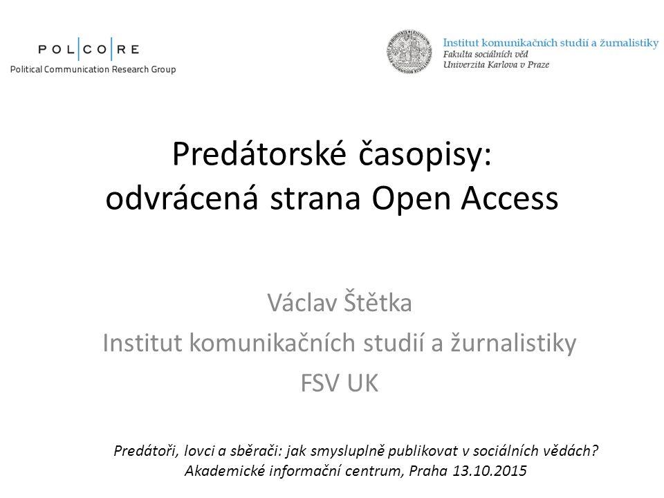 Vývoj open access publikování 1993–2009 (počet časopisů a článků) Zdroj: Laakso M, Welling P, Bukvova H, Nyman L, Björk BC, et al.
