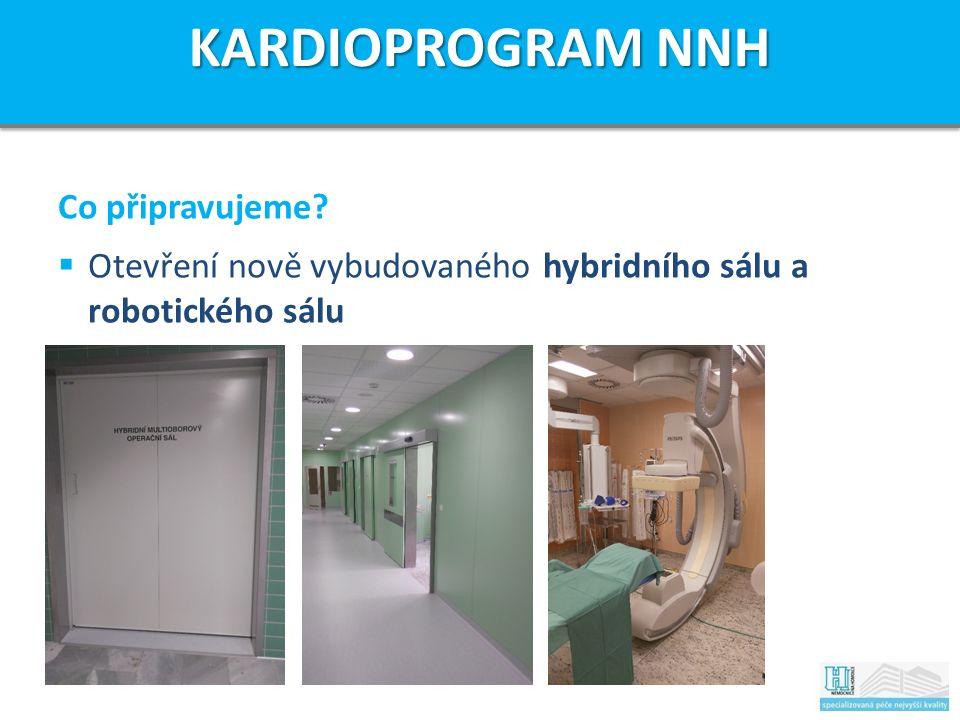 Co připravujeme  Otevření nově vybudovaného hybridního sálu a robotického sálu KARDIOPROGRAM NNH