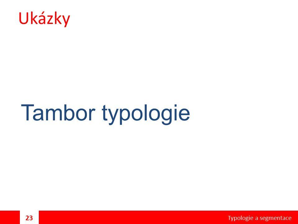 Ukázky Tambor typologie Typologie a segmentace 23