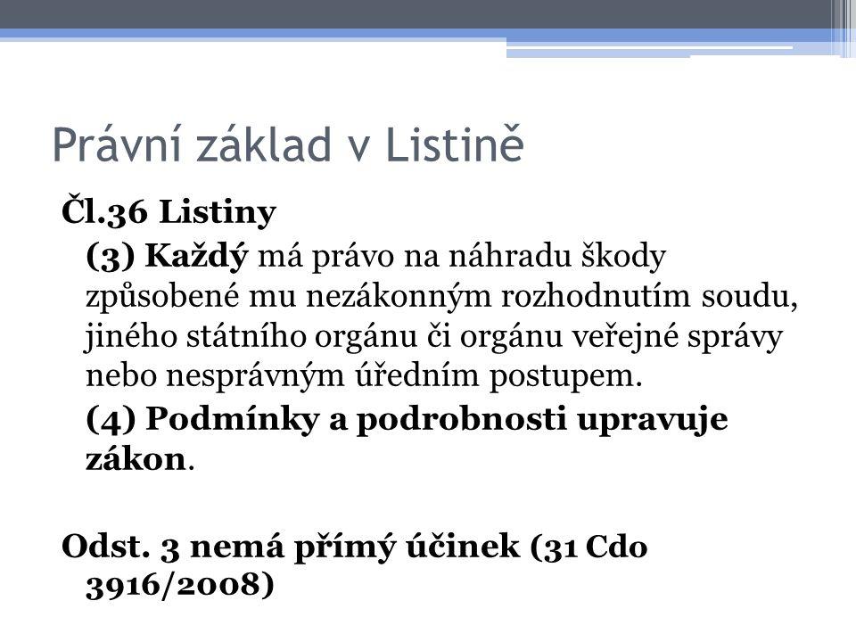 Právní základ v podústavním právu Zák.č. 160/2006 Sb., kterým byl novelizován zák.