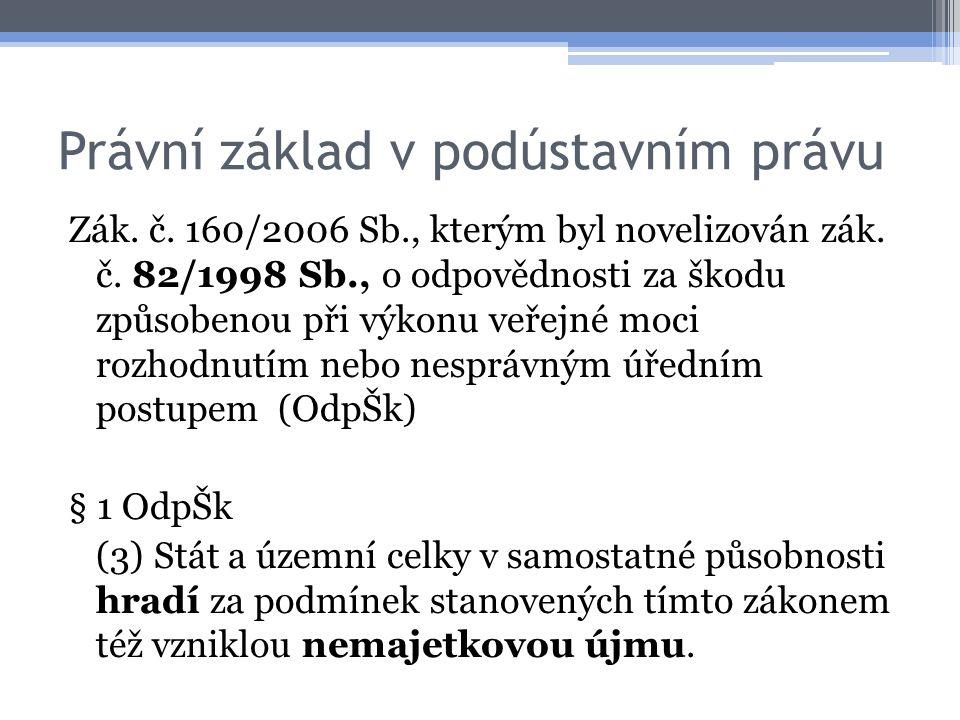 Právní základ v podústavním právu Zák. č. 160/2006 Sb., kterým byl novelizován zák.