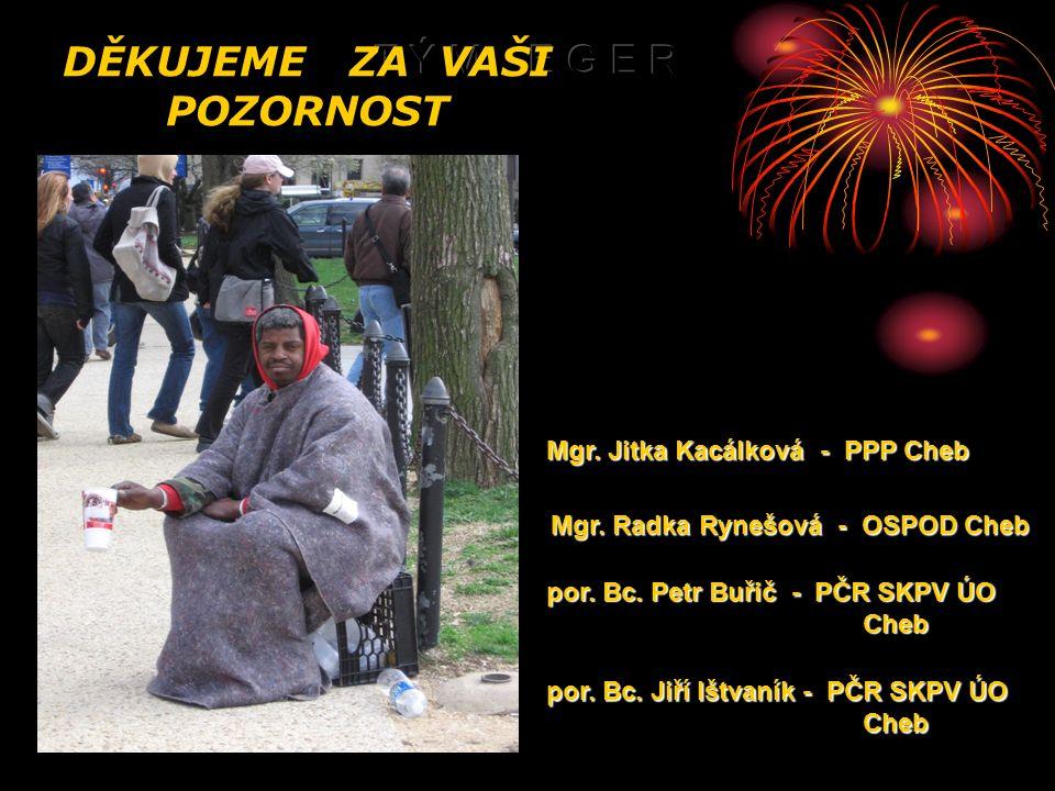 DĚKUJEME ZA VAŠI POZORNOST Mgr. Jitka Kacálková - PPP Cheb Mgr.