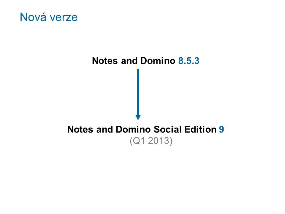 Nová verze Notes and Domino 8.5.3 Notes and Domino Social Edition 9 (Q1 2013)
