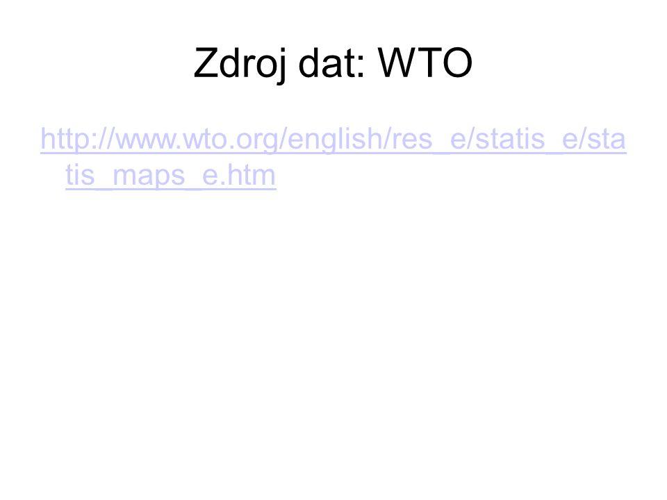Zdroj dat: WTO http://www.wto.org/english/res_e/statis_e/sta tis_maps_e.htm