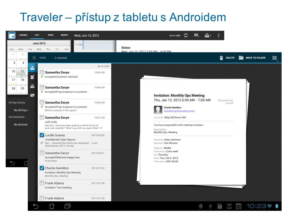 Traveler – přístup z tabletu s Androidem