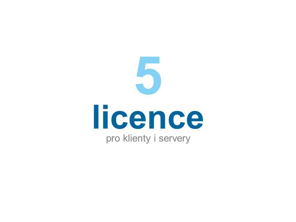 licence pro klienty i servery 5