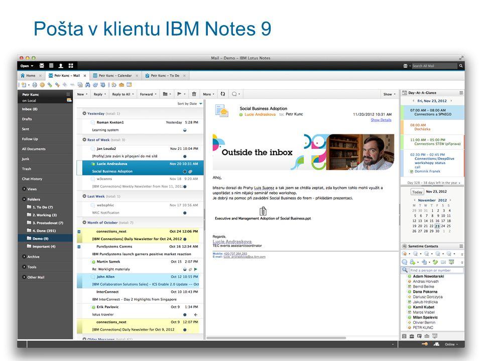 Pošta v klientu IBM Notes 9