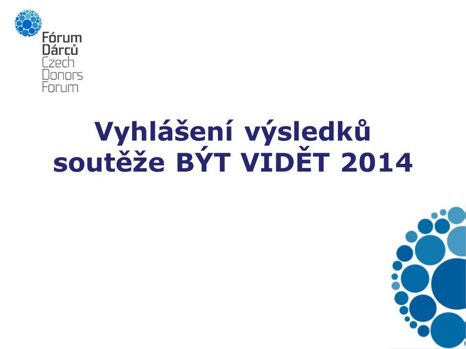 Vyhlášení výsledků soutěže BÝT VIDĚT 2014