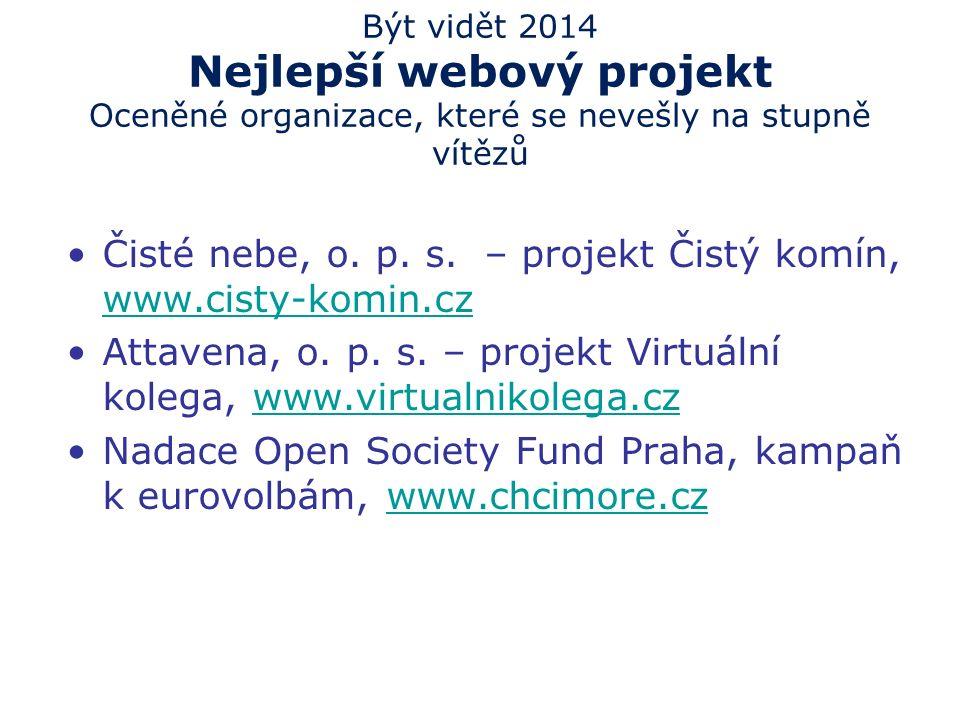 10 Být vidět 2014 Nejlepší webový projekt 3.