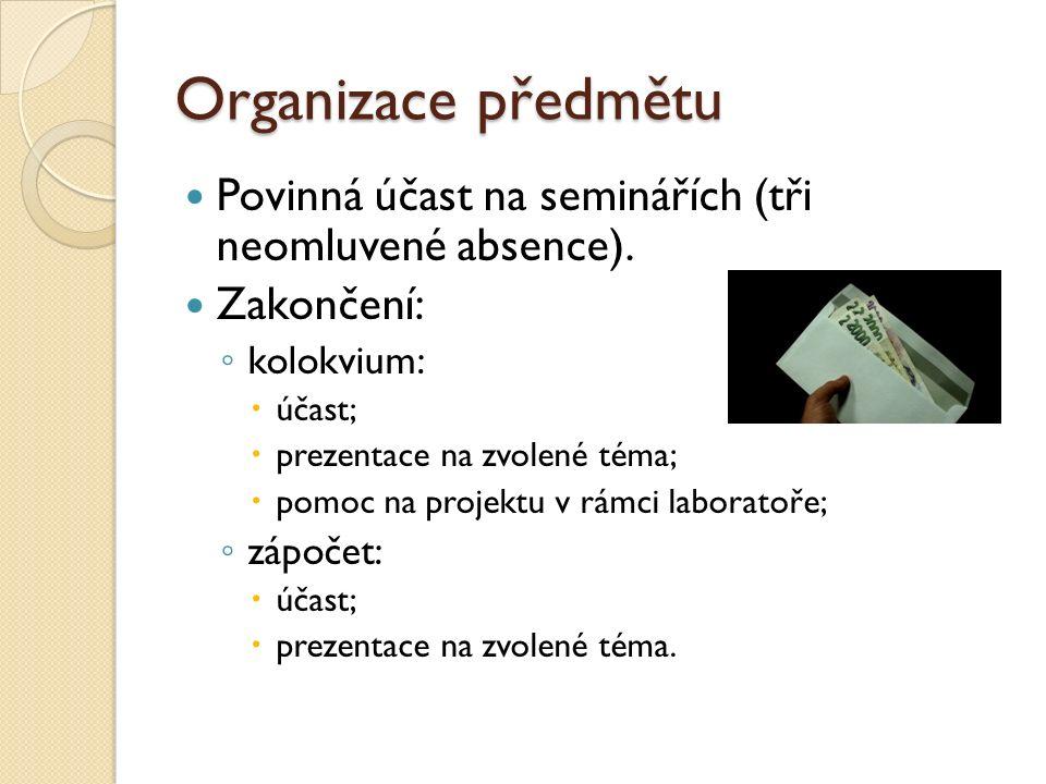Organizace - 1.a 2. hodina Obecný úvod do problematiky asistivních technologií.