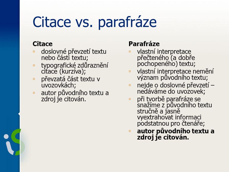 Citace vs.