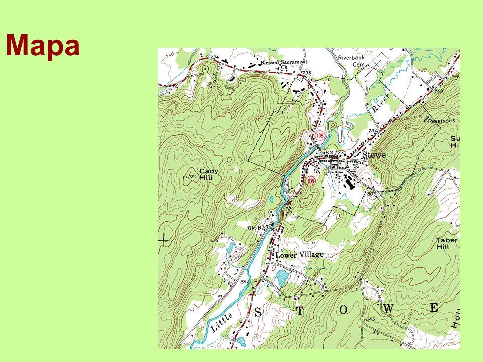 Mapa zmenšený model reálného světa, je vyjádřena pomocí smluvených znaků, ale není dokonalým obrazem reality známe mapy měst, turistické mapy, automapy, autoatlasy,… mapové značky – jsou symboly, jimiž jsou v mapě vyznačovány objekty a útvary barevná rozlišení – barevně rozlišujeme zalesněná území (zeleně) nebo vodu v krajině (modře)
