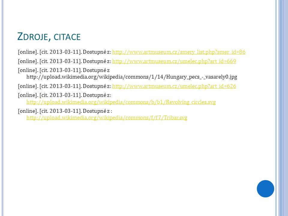 Z DROJE, CITACE [online]. [cit. 2013-03-11].