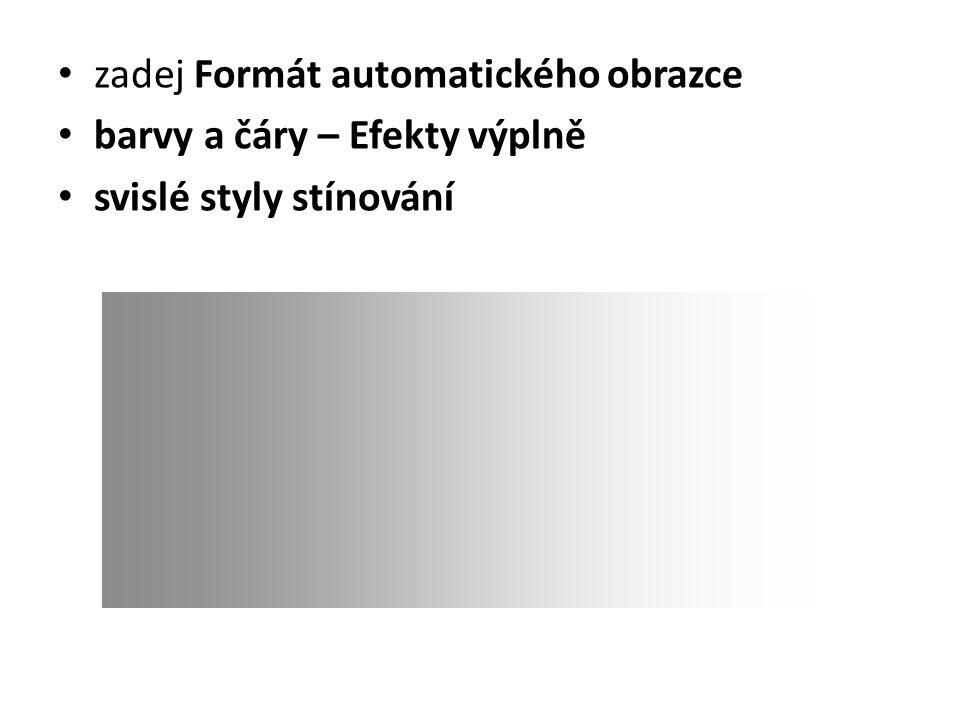 zadej Formát automatického obrazce barvy a čáry – Efekty výplně svislé styly stínování