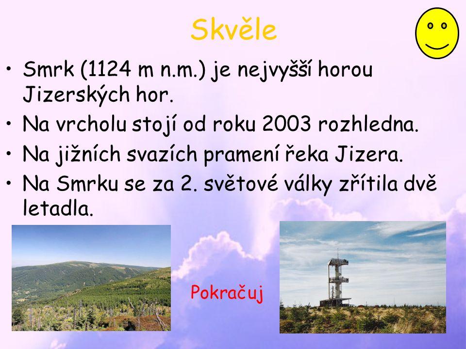 Skvěle Smrk (1124 m n.m.) je nejvyšší horou Jizerských hor.