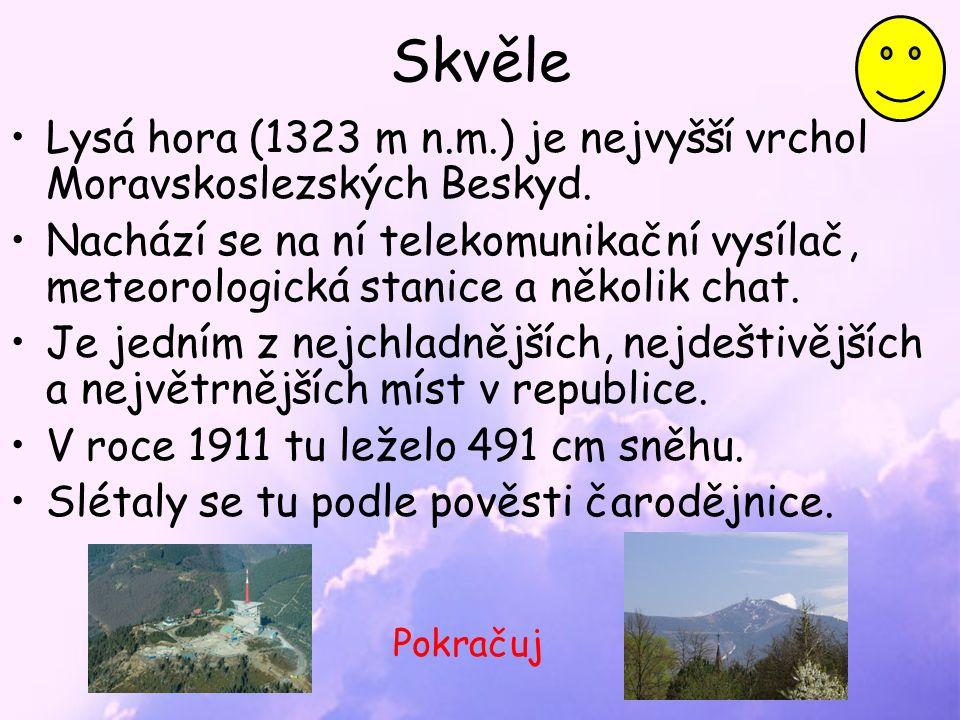Skvěle Lysá hora (1323 m n.m.) je nejvyšší vrchol Moravskoslezských Beskyd.