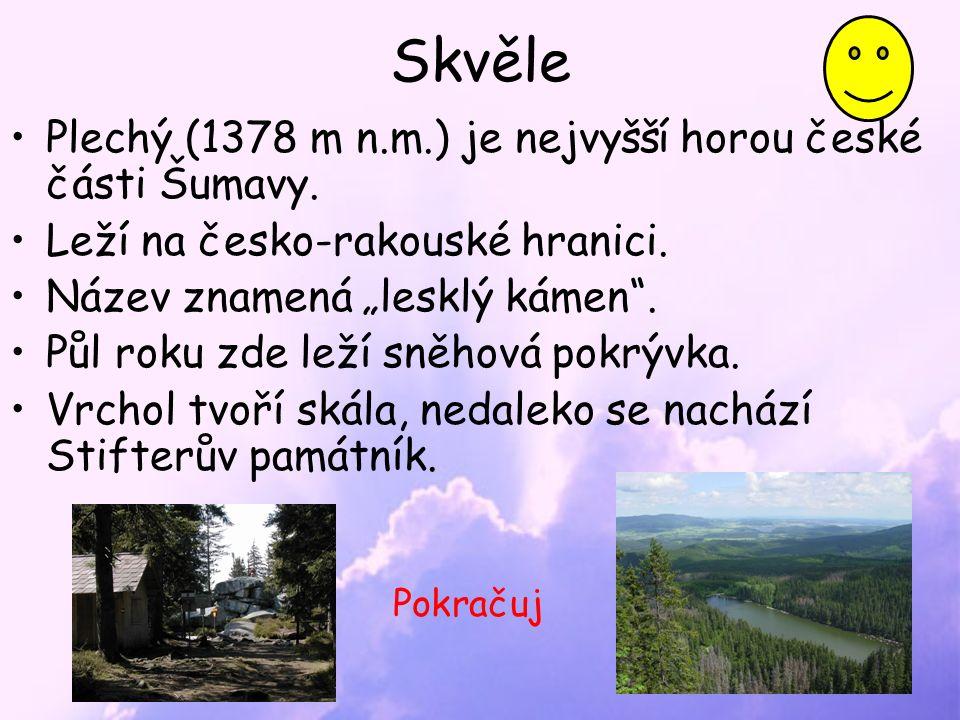Skvěle Plechý (1378 m n.m.) je nejvyšší horou české části Šumavy.