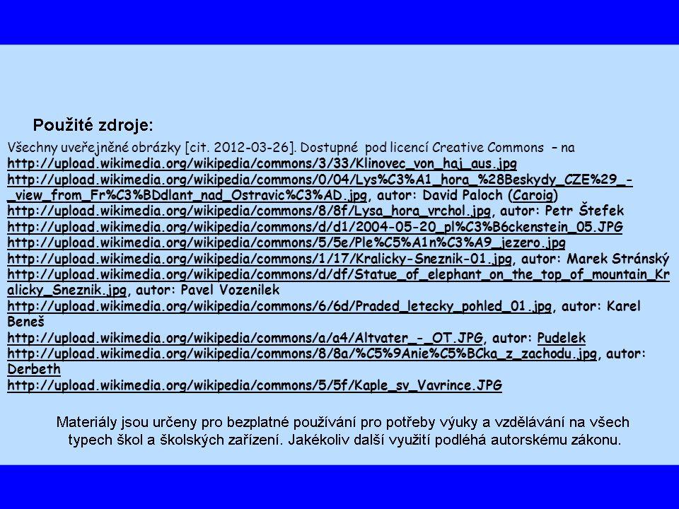 Všechny uveřejněné obrázky [cit. 2012-03-26].