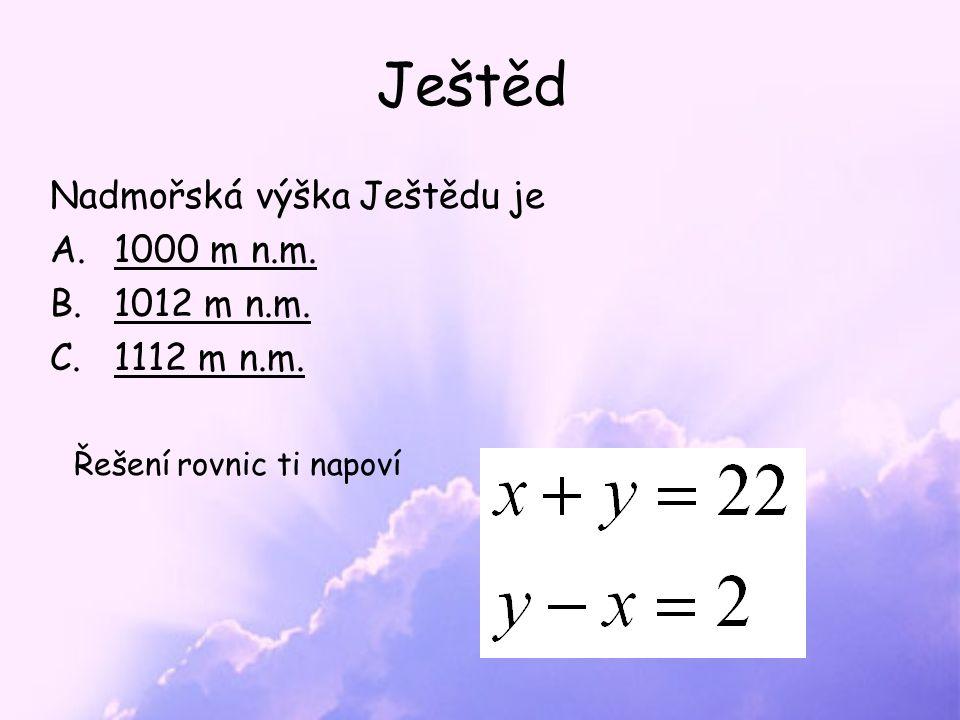 Skvěle Ještěd (1012 m n.m.) je nejvyšší horou Ještědsko-kozákovského hřbetu Tyčí se nad městem Liberec.