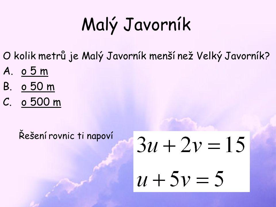 Skvěle Malý Javorník (1021 m n.m.) je nejvyšší horou české části Javorníků Leží na česko-slovenské hranici.