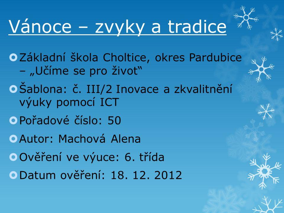 """ Základní škola Choltice, okres Pardubice – """"Učíme se pro život  Šablona: č."""