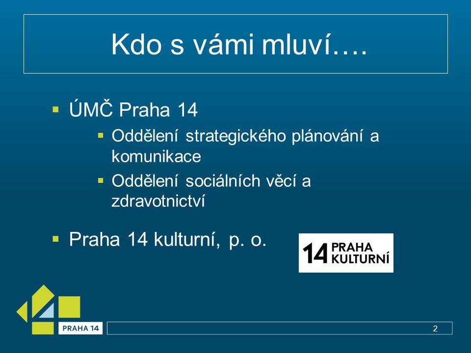 Podpora z MČ  Dotace Prahy 14  oblast 1 – sociální oblast  oblast 2 – kultura, sport, volný čas, MA – 21 3