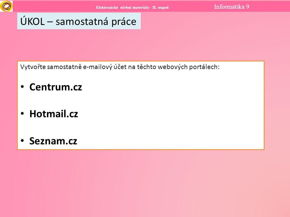 Elektronické učební materiály - II.stupeň Informatika 7 Použité zdroje: Soubor:Gmail logo.png.