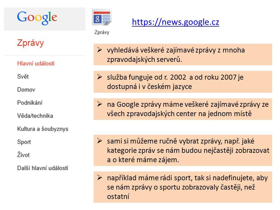 https://news.google.cz  vyhledává veškeré zajímavé zprávy z mnoha zpravodajských serverů.