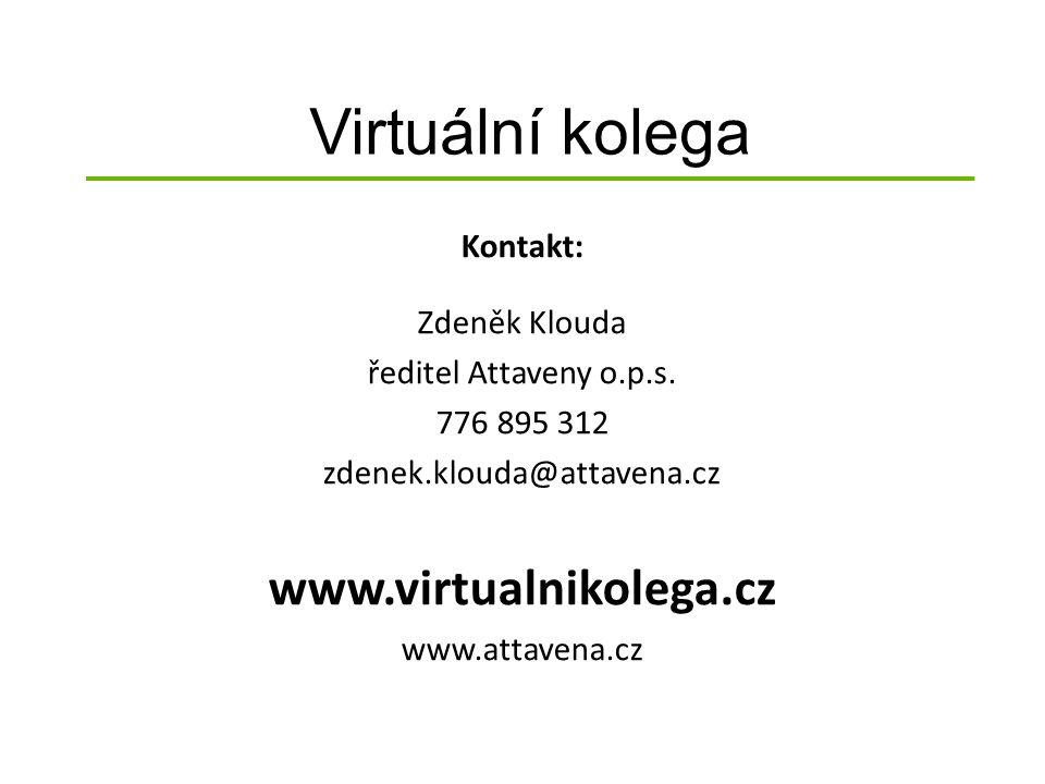 Virtuální kolega Kontakt: Zdeněk Klouda ředitel Attaveny o.p.s.