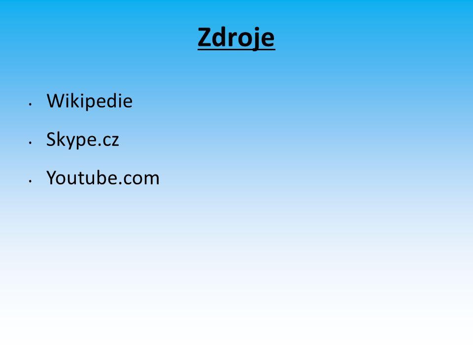 Zdroje Wikipedie Skype.cz Youtube.com
