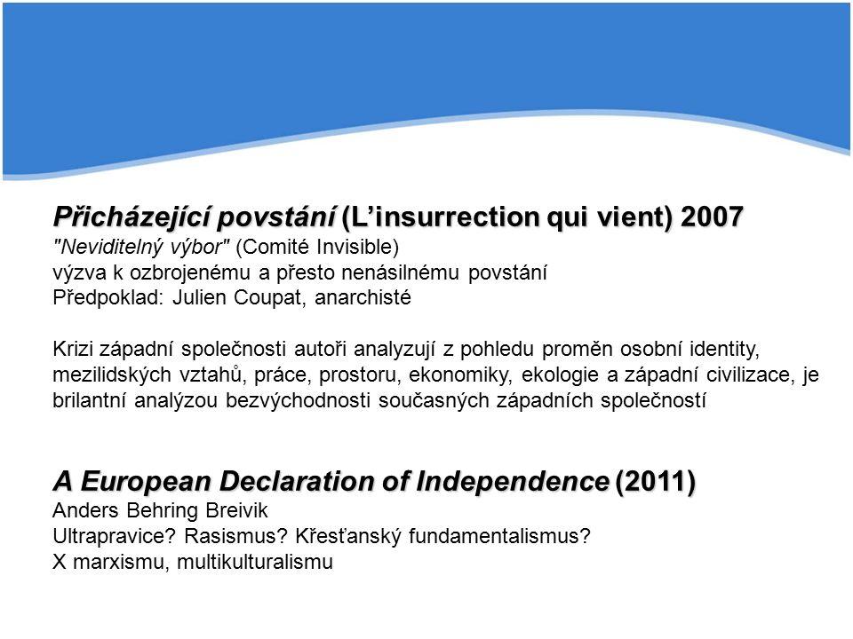 Přicházející povstání (L'insurrection qui vient) 2007