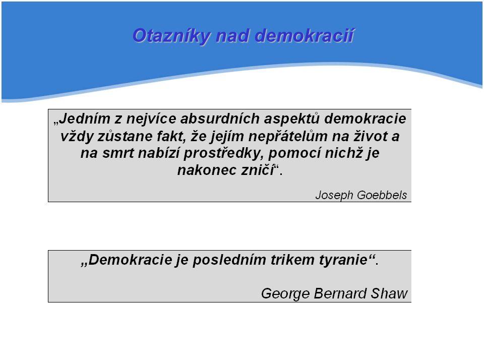 Otazníky nad demokracií
