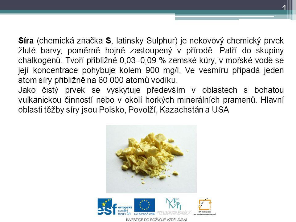 Síra (chemická značka S, latinsky Sulphur) je nekovový chemický prvek žluté barvy, poměrně hojně zastoupený v přírodě. Patří do skupiny chalkogenů. Tv