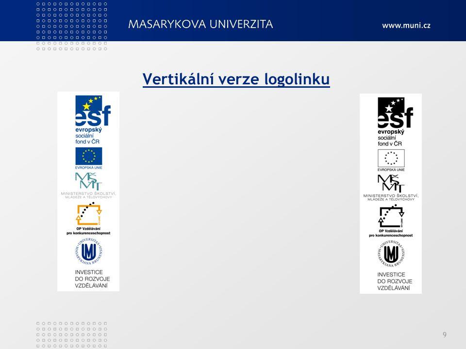 Vertikální verze logolinku 9