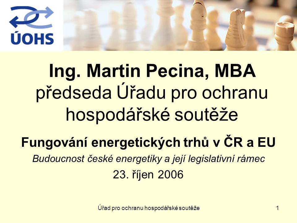 Úřad pro ochranu hospodářské soutěže1 Ing.
