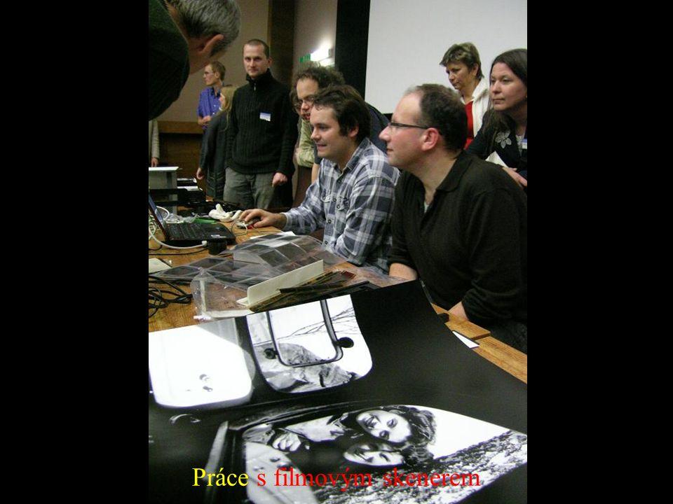 Práce s filmovým skenerem