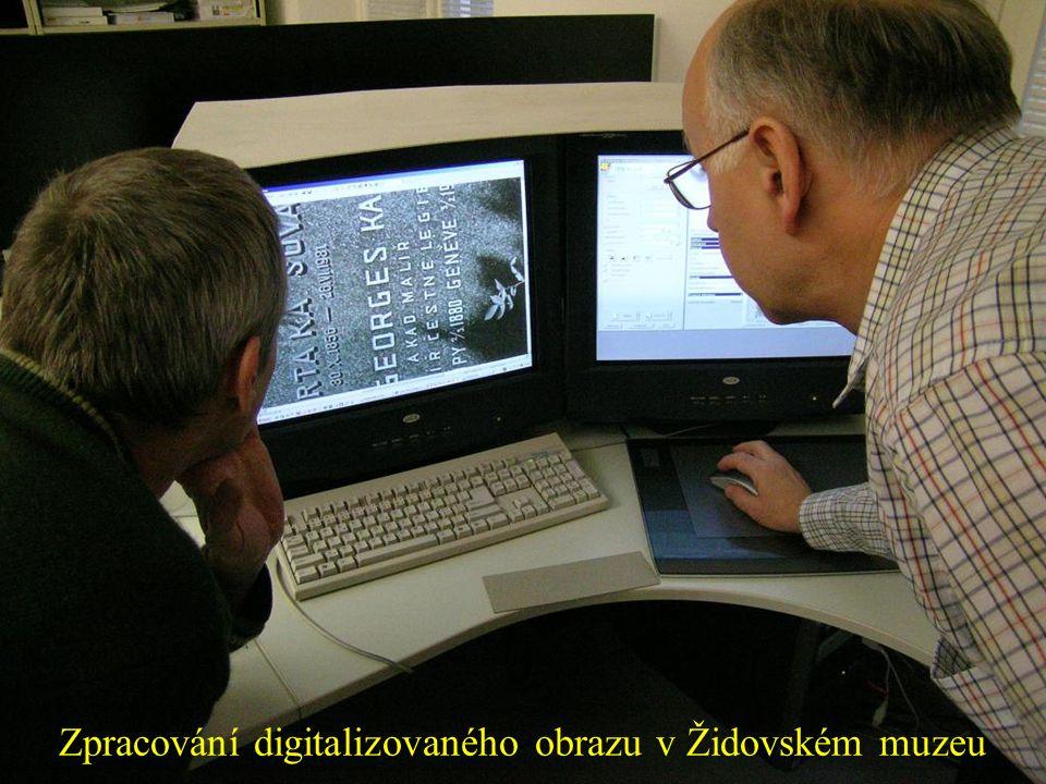 Zpracování digitalizovaného obrazu v Židovském muzeu