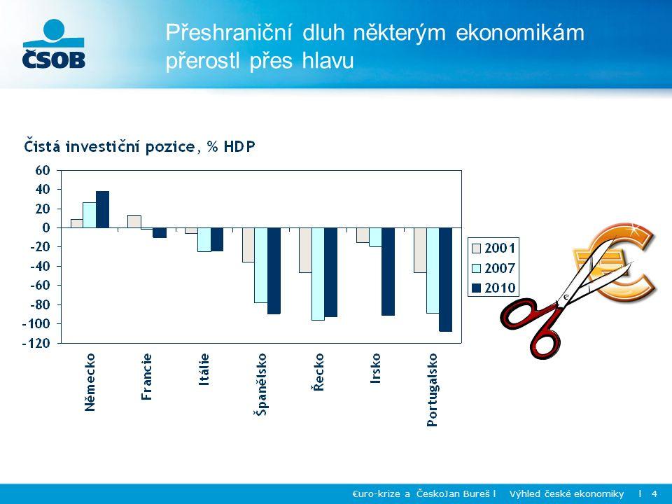 Přeshraniční dluh některým ekonomikám přerostl přes hlavu €uro-krize a ČeskoJan Bureš l Výhled české ekonomiky l 4