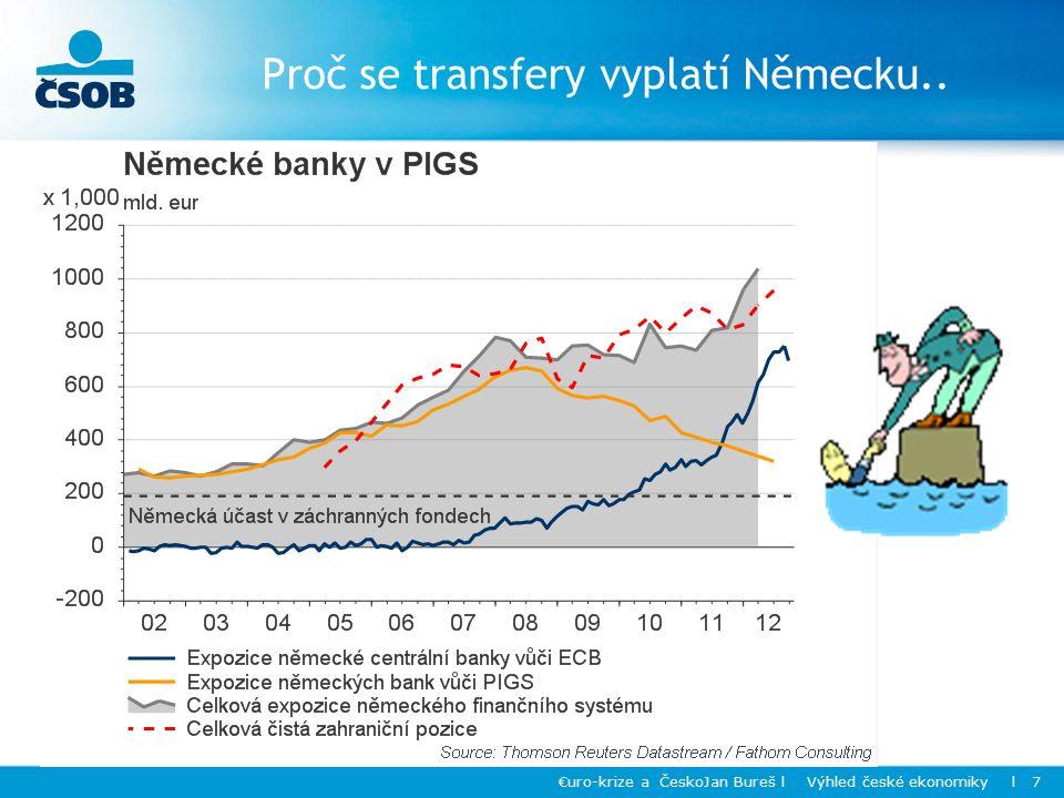 Proč se transfery vyplatí Německu.. €uro-krize a ČeskoJan Bureš l Výhled české ekonomiky l 7
