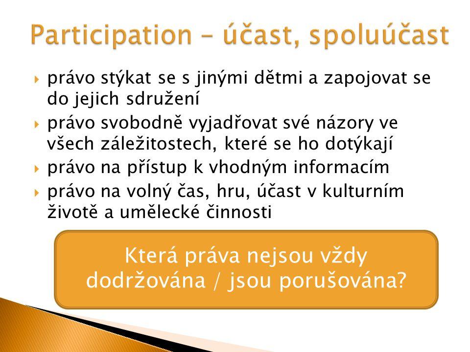  Práva dítěte v dokumentech.Odbor prevence kriminality MV ČR.